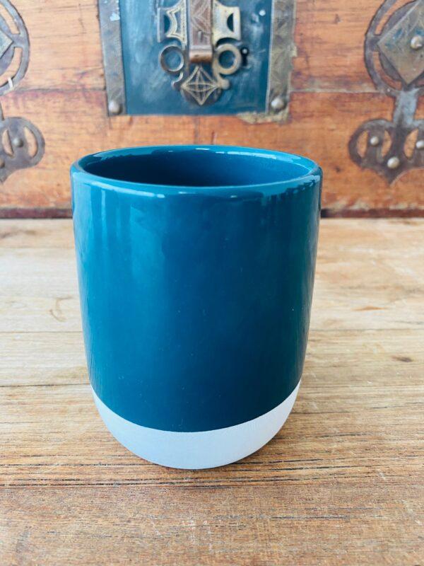 Blue Handmade Moroccan Mug   Set of 2   Tahanaout