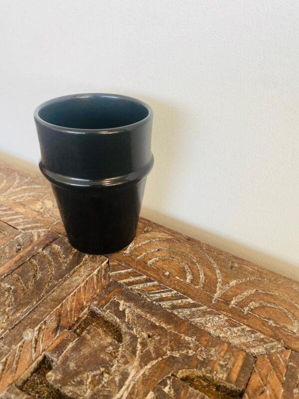 Black Handmade Moroccan Mug | Set of 2 | Modern Beldi Mug